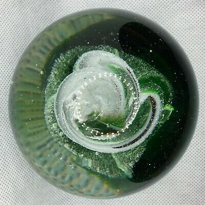 Caithness/Whitefriars Or Similar Glass Paperweight Green Twist • 15£