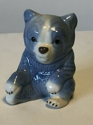 Retro Studio Szeiler Sitting Blue Honey Bear Ceramic • 13.95£