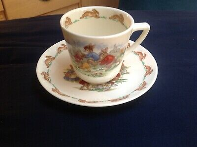 Royal Doulton Bunnykins Cup And Saucer. Made In England • 7.50£