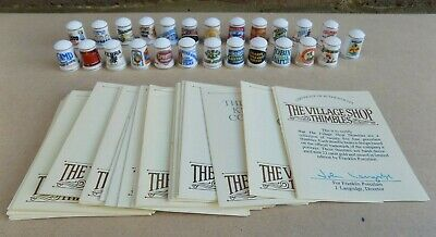 FRANKLIN PORCELAIN The Village Shop Thimbles (25 Thimbles) • 29.99£