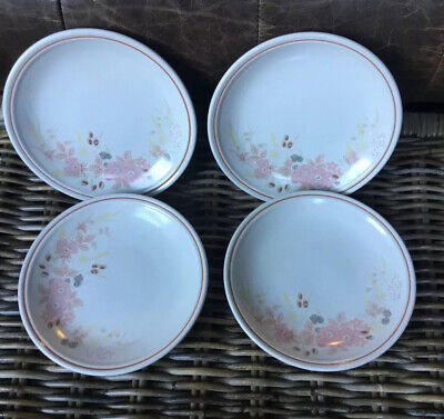 "BOOTS HEDGE ROSE SIDE PLATES X 4 Very Good Condition 7.5"" • 17.99£"