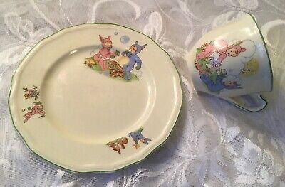 1950s Alfred Meakin Pixie Ware Cup & Plate • 25£
