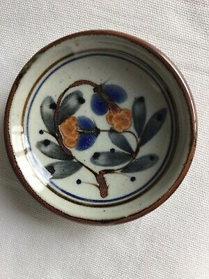 Pretty Hand Decorated Highland Stoneware Shallow Pin Dish Bowl • 12.99£