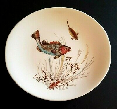 Vintage Johnson Bros Oval Side Plate In The  Fish  Design #2 - 19 Cm X 17 Cm • 8£