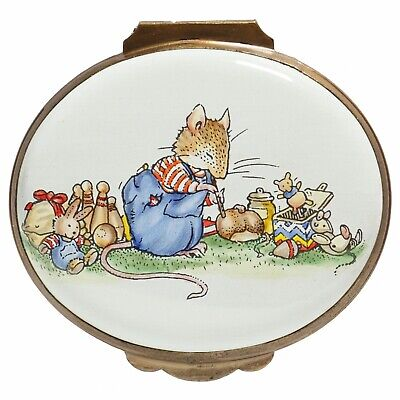 Crummles Brambly Hedge Wilfred And Toys Enamel Oval Box - Boxed • 170£