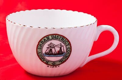 Unknown Maker Crested China Coffee Cup With Barry Urban District Council Crest • 5.99£