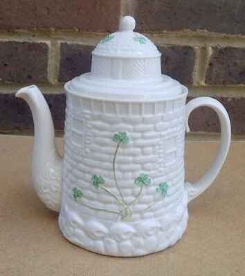 Irish BELLEEK Shamrock Lighthouse Teapot Or Coffee Pot • 79.99£