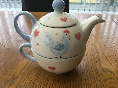 Price & Kensington Tea Pot For One With Cup Love Heart & Chicken Design • 9.99£
