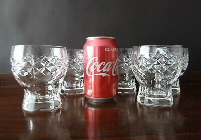Vintage Crystal Whisky Tumblers With Chunky Base, 1960-70's, H10cm • 90£