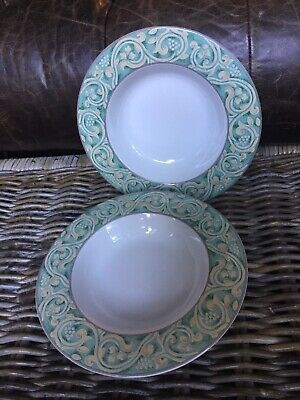 Bhs Valencia Wide Rimmed Bowls X 2 Soup Or Pasta (set B) • 11.99£