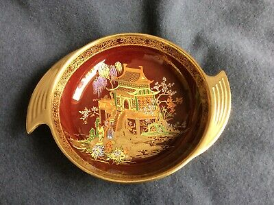 Vintage Carlton Ware Rouge Royale Hand Painted Pagoda Willow Tree  Dish Bowl • 45£