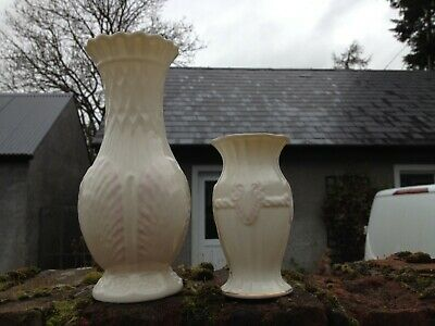 Two Belleek Vases • 3.98£