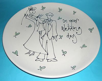 Gallery Thea Art Pottery Southwold - Hand Decorated Wedding Plate. • 25£