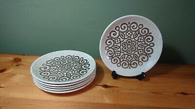 Vintage 1960s/70s Set 6 Biltons Ironstone Celtic Rose Pattern 6.5  Side Plates  • 19.75£