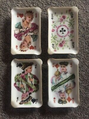 Vintage China Ornament Cigarette Tray Holder And Four Trays • 13.50£