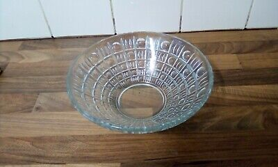 Vintage Lead Crystal Glass Fruit Bowl Circle And Square Pattern • 3.50£