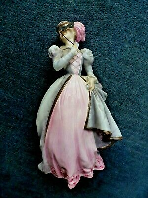 W ELEGANT ROYAL WORCESTER FIGURE MASQUERADE RW4149 BOXED WITH MASK. • 24£