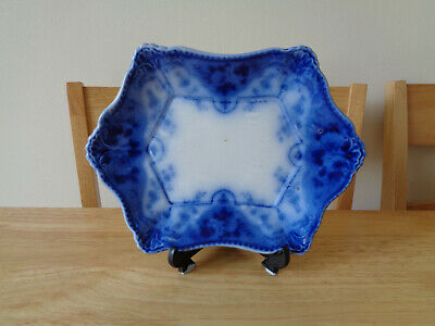Antique Art Nouveau, F & Sons Flow Blue, Under Gravy Boat Argyle Dish • 1£