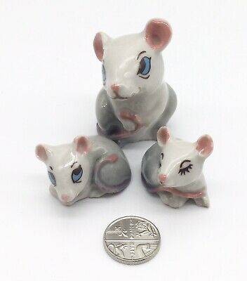 Wade Mouse Mother And Two Babies ~ Mice ~ Mouse Family • 7.99£
