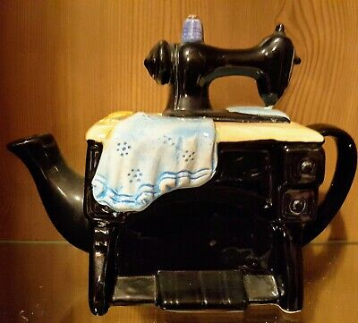 Lovely Vintage Sewing Machine Novelty Teapot. Excellent Condition, No Chips... • 8£