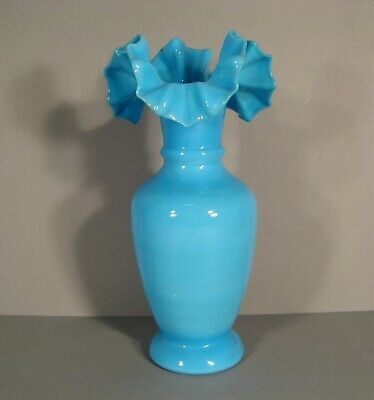 Antique Large Vase In Opaline Blue • 55.60£