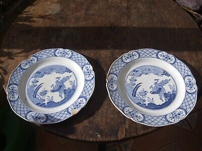 Pair Of Furnivals Old Chelsea Pattern Plates • 3£