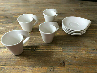 Villeroy And Boch - Espresso Cups & Saucers X 4 - Brand New • 16£