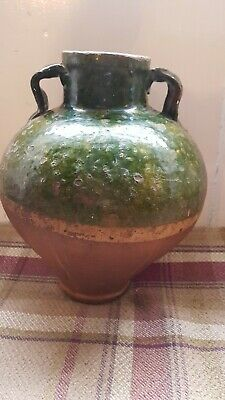 19thC Bulbous French Earthenware Pot • 115£