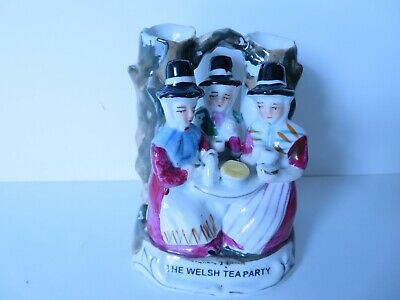 Vintage Ceramic Vase - The Welsh Tea Party , Made In Germany  • 6£