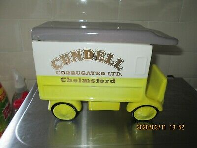 Rare Carlton Ware Van Biscuit Barrel Cookie Jar Cundell Corrugated  Chelmsford • 11.99£