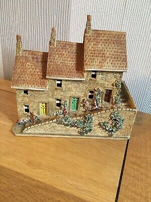 Handmade Row Of Ceramic Houses / Cottages Built In 1985 • 9.99£