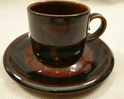 Arabia Soraya Coffee Cup And Saucer Made In Finland Anja Jaatinen-Winqvist 1970s • 12.99£