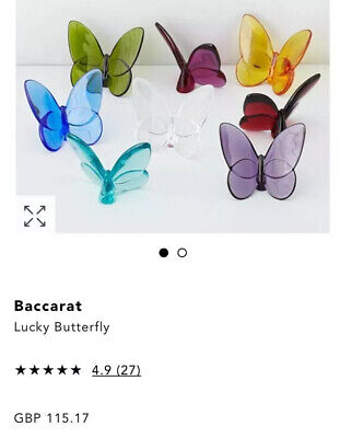BN Baccarat Papillon Lucky Crystal Butterfly Purple • 70£