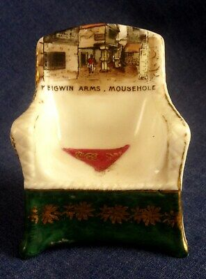 Crested China. Keigwin Arms Mousehole.  Cornwall.  Rare Item.  (AMA) • 15£