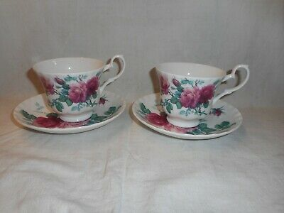 2 Roy Kirkham English Rose Cups & Saucers • 18£
