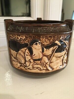 Antique Bretby Tooth & Ault Pottery Chinoiserie Bowl 2702B • 24.99£