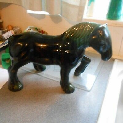Large Blue Mountain Pottery Shire Horse, 14  Long, 9  High • 28£