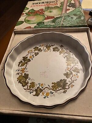 BHS   Country Garland Collection   9 Inch Ceramic Flan Dish. USED / GC • 0.99£