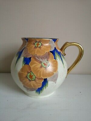 Art Deco Carlton Ware Handcraft  Peach Melba  Handled Vase • 175£