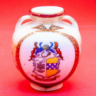 Unknown English Manufacturer Crested China Cream Ware Greek Urn Rothesay Crest • 5.99£