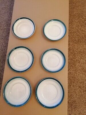 Blue Pacific Wedgwood Saucers X 6 • 5£