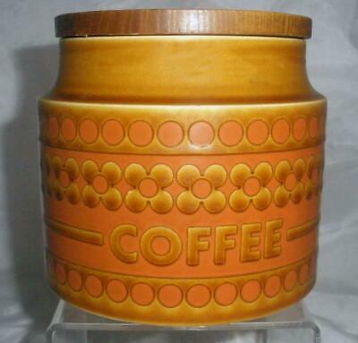 Hornsea Pottery Saffron Pattern Coffee Storage Jar With Wooden Lid • 5.25£
