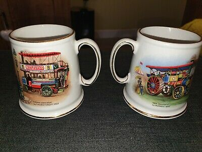 A Pair Of Vintage Old Foley Mugs By James Kent • 0.99£