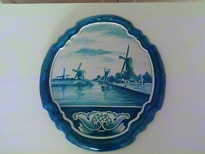 A Large Late 18th Early 19th Century Delft Wall Plaque • 145£