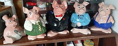 Wade Full Set Natwest Pigs Excellent Condition Perfect No Chips Or Cracks  • 35£