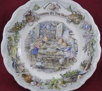 Royal Doulton Brambly Hedge Dining By The Sea Plate Boxed Sea Story 2001 • 49.99£