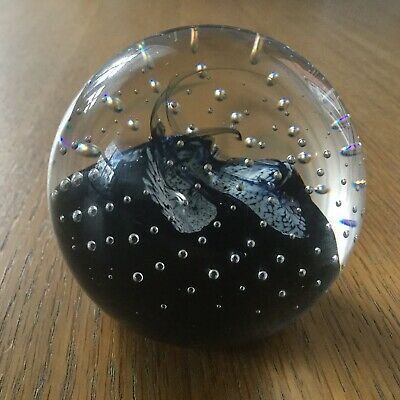 Caithness Glass Paperweight. Controlled Bubble Design. Free Postage. • 5.99£