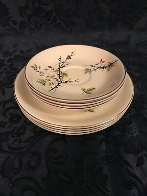 Alfred Meakin England, Linden, 4 Side Plates And 4 Saucers • 5£