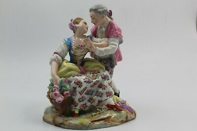 Stunning Antique Porcelain Courting/Romantic Couple Figurine • 150£