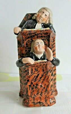 Wood Family The Vicar And Moses Staffordshire C1820  Court Figure Group  • 40£